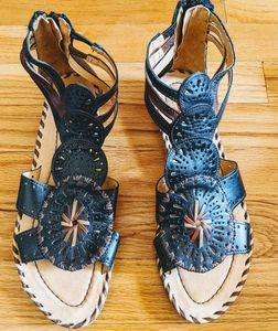Pikolinos Woven Leather Sandals